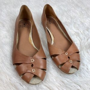 LUCKY BRAND Leather Stitched flats